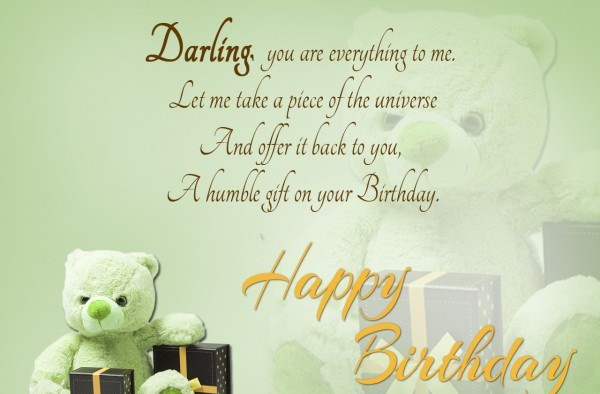 To My Lovely Darling Happy Birthday Wishes Image