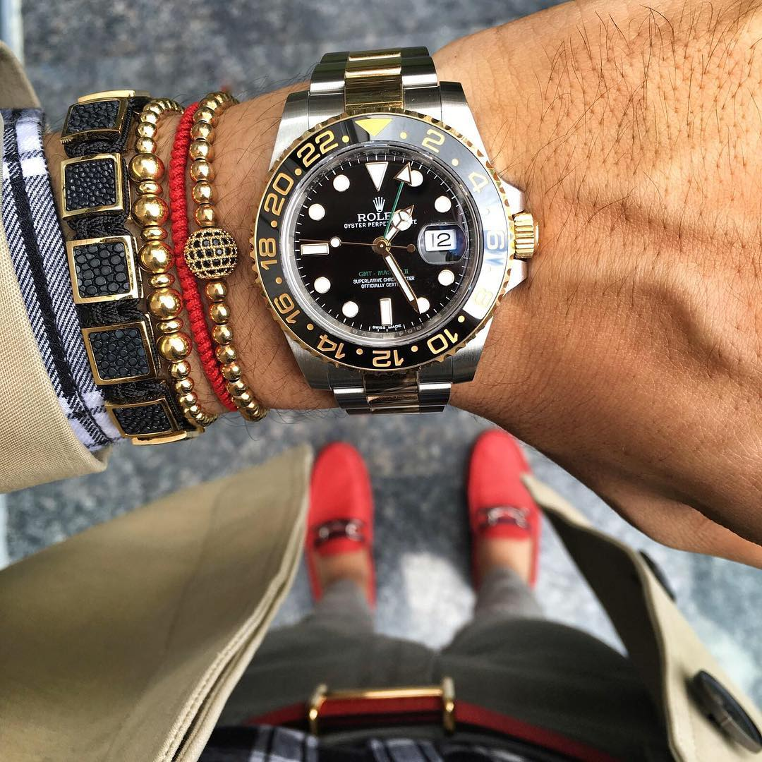 Ultimate Rolex Watch And Gold Bracelet Chain For Men