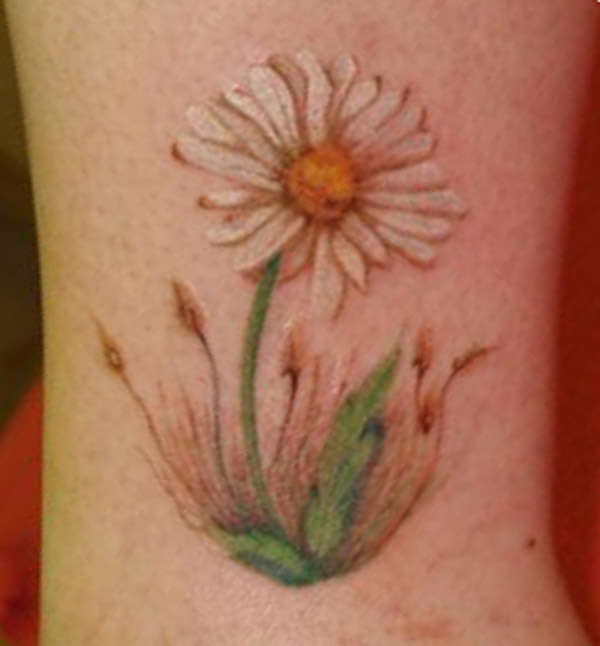 Color Daisy Tattoo: 51 Adorable Daisy Tattoo Designs, Ideas & Pictures