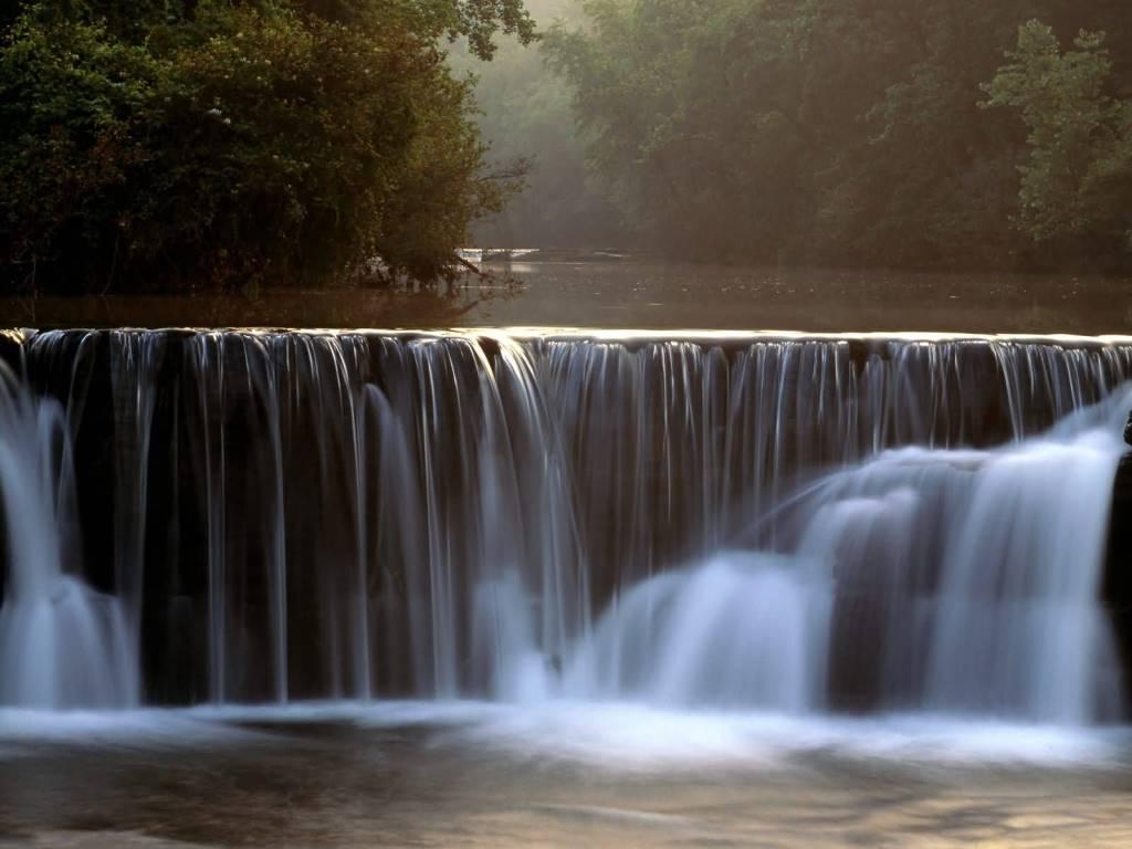 Unique Natural Dam Ozark National Forest Arkansas 4K Wallpaper
