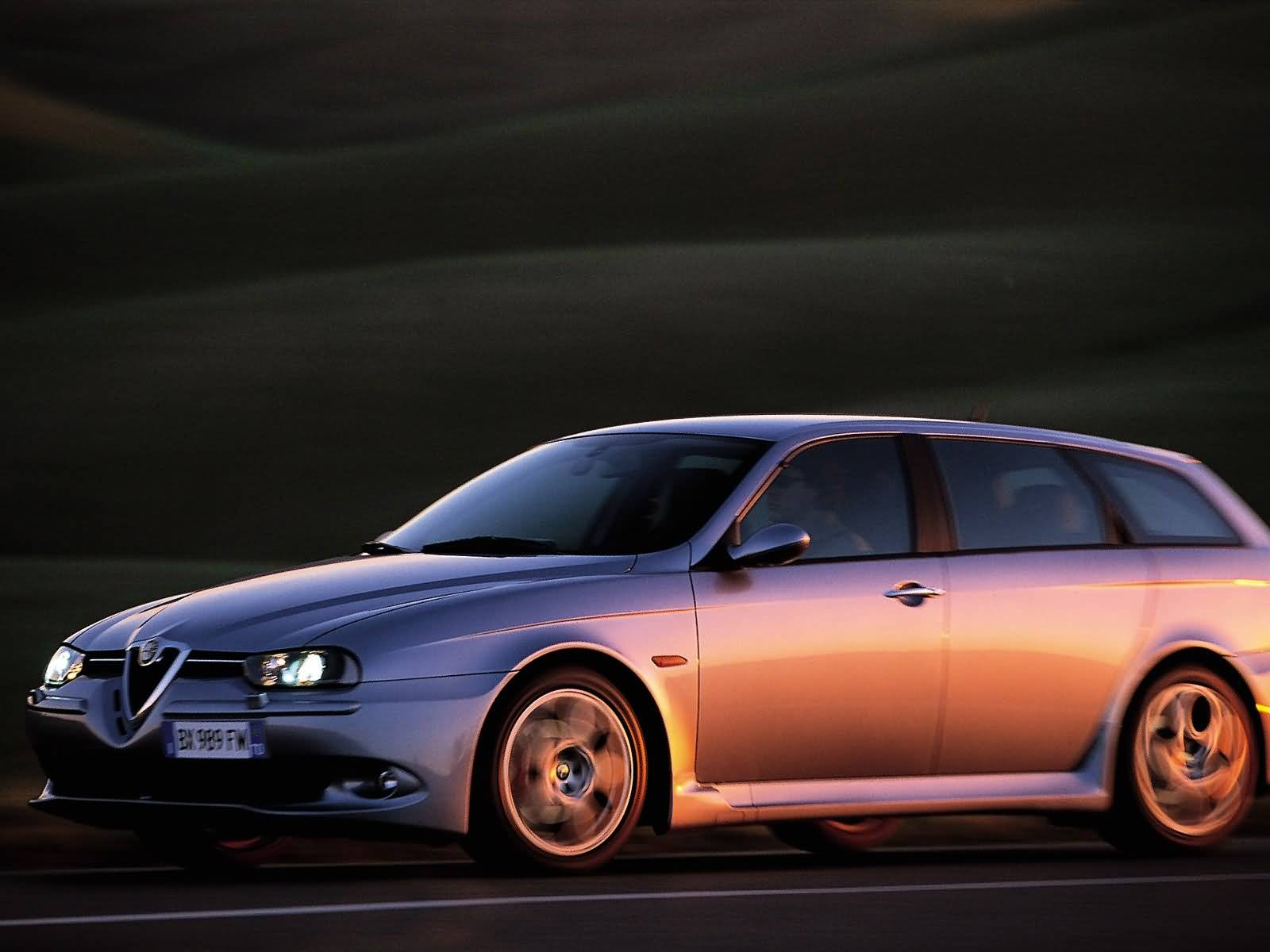 Very fast awesome Alfa Romeo 156 GTA Car on the road