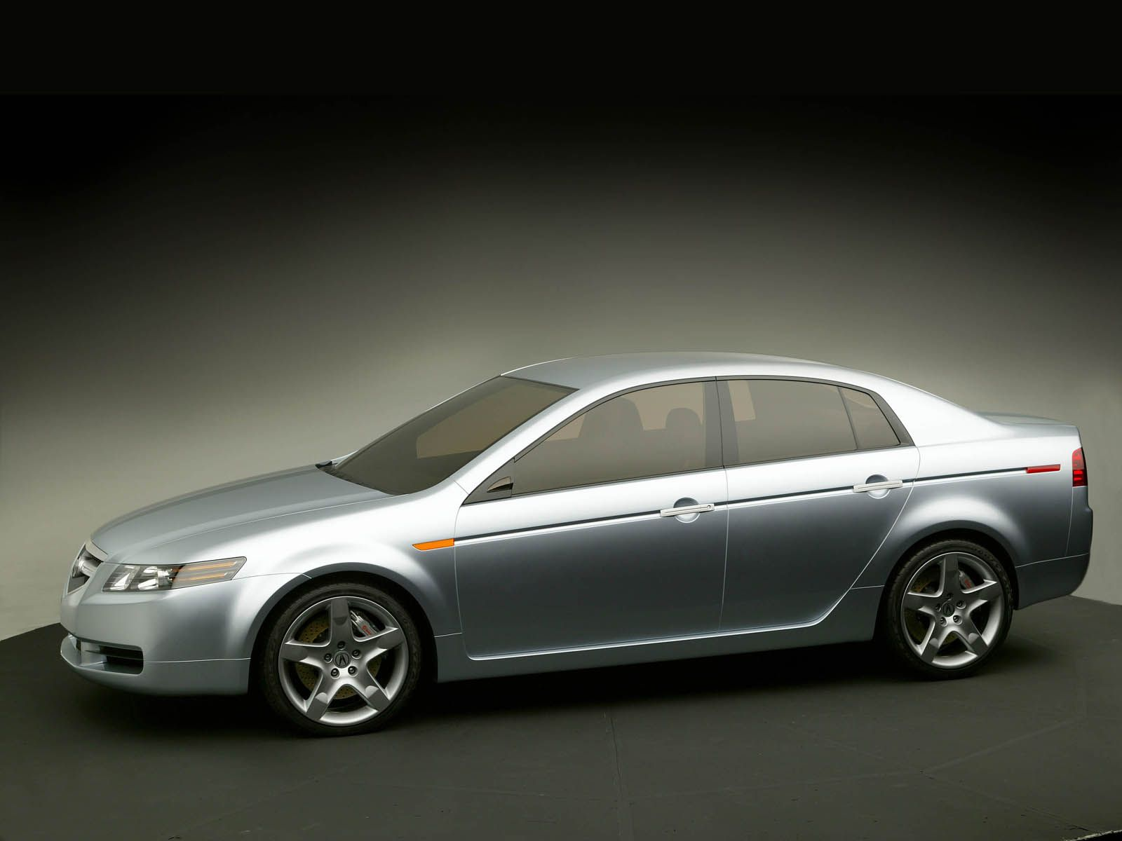 Very fast silver color Acura TL Concept Car