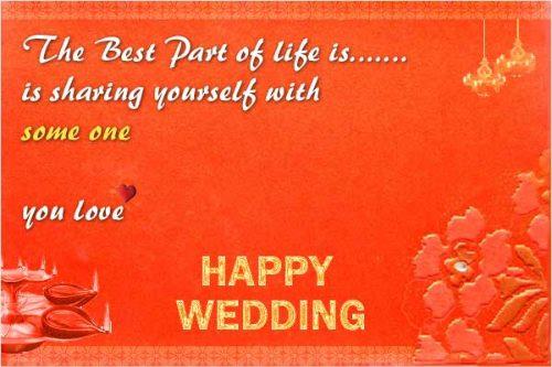 Wedding Wishes Quotes Image