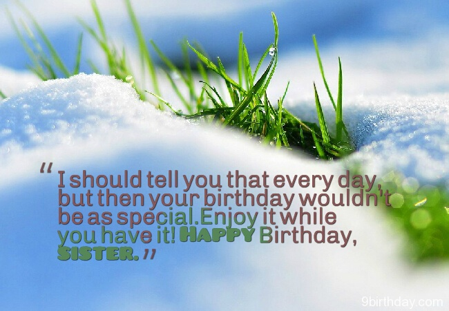 Wish You A Happy Birthday Sister Quotes Image