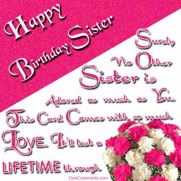 41 wonderful sister birthday wishes will show your love picsmine wish you a very happy birthday sister your all dreams come true m4hsunfo