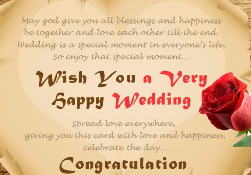 50 best happy wedding wishes greetings and images picsmine