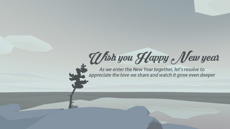 Wish You Happy New Message Image