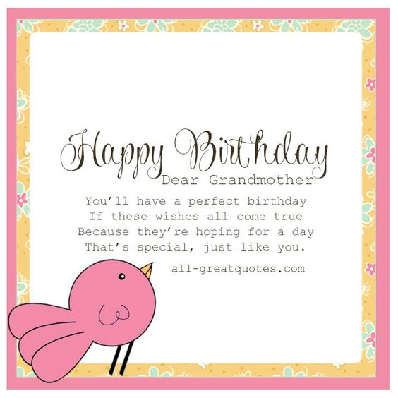 Wishes All Come True Happy Birthday Dear Grandmother