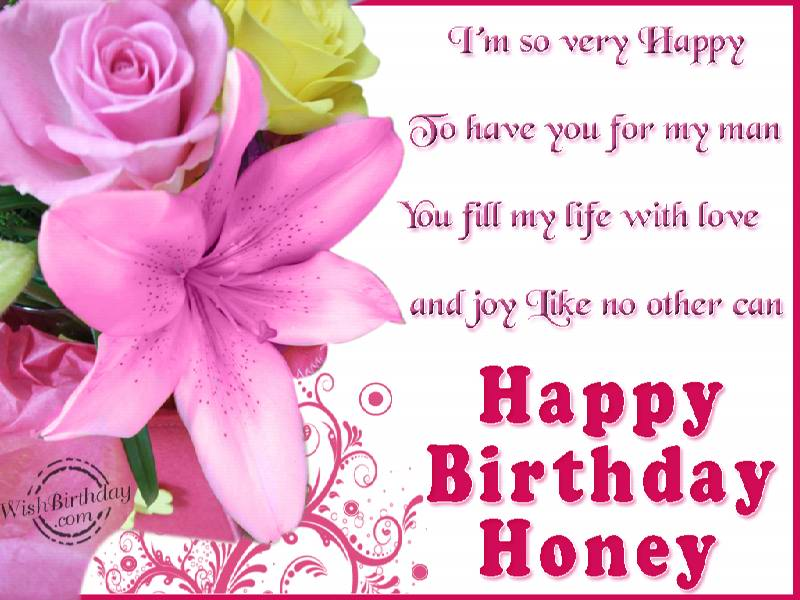 Wishing A Very Happy Birthday Honey Greetings Message
