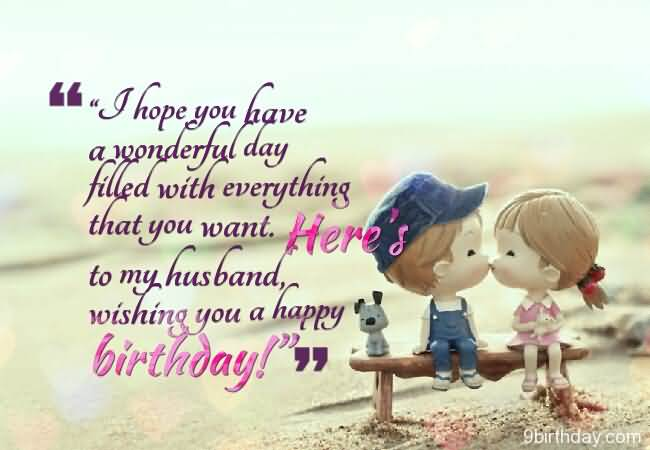 Wishing You A Happy Birthday To My Husband Message Cute Image