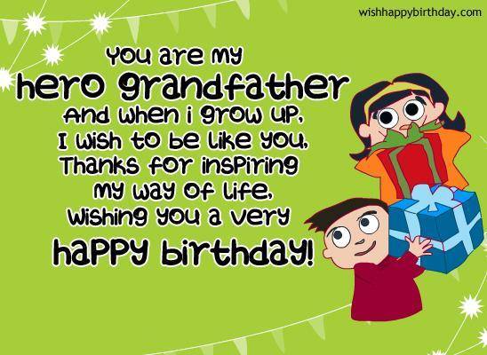 heart touching grandpa birthday wishes image  picsmine, Birthday card