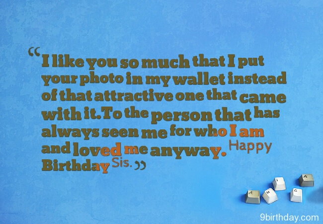 Wishing You A Very Happy Birthday Sister Quotes Image