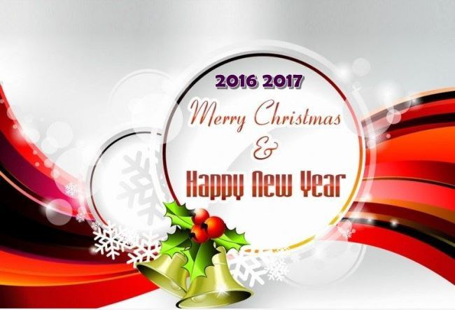 Wishing You A Very Merry Christmas & Happy New Year Greetings Image