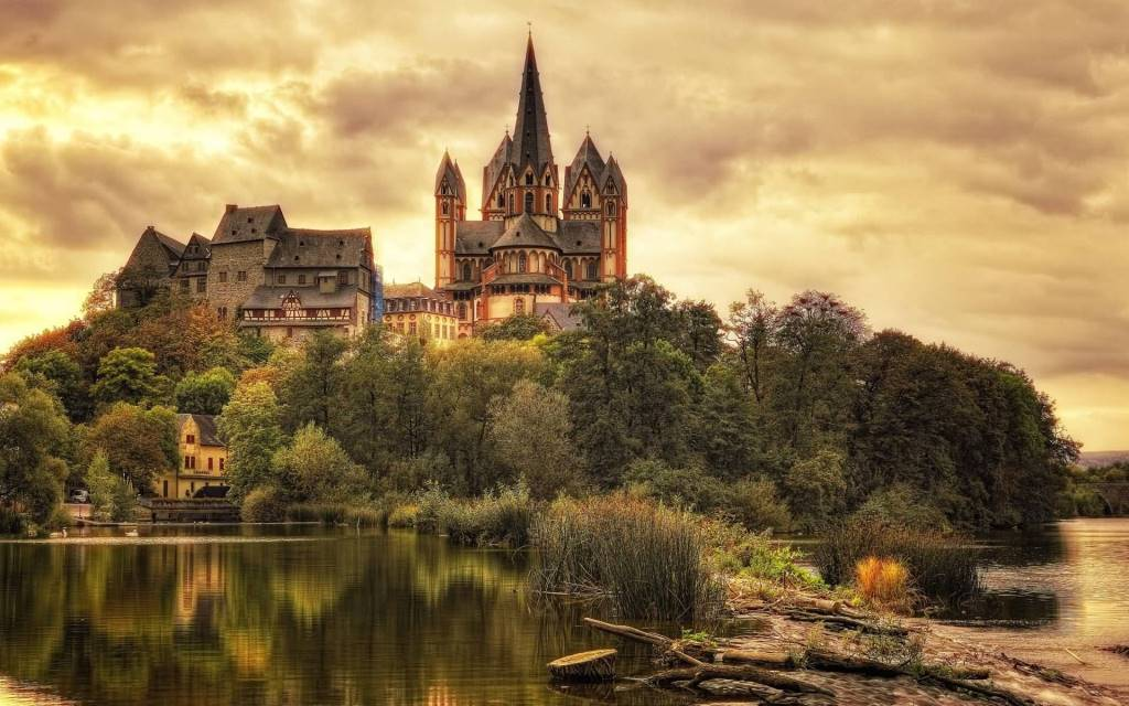 Wonderful Cathedral Of Limburg Full HD Wallpaper