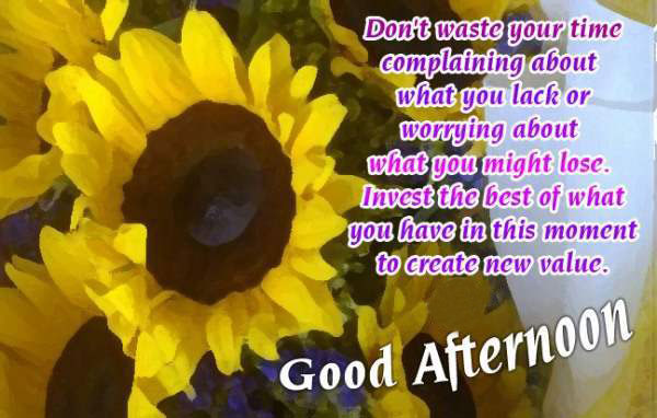 Wonderful Good Afternoon Quotes Image