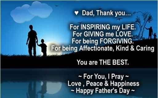 Wonderful Greetings Quotes Happy Father's Day Image