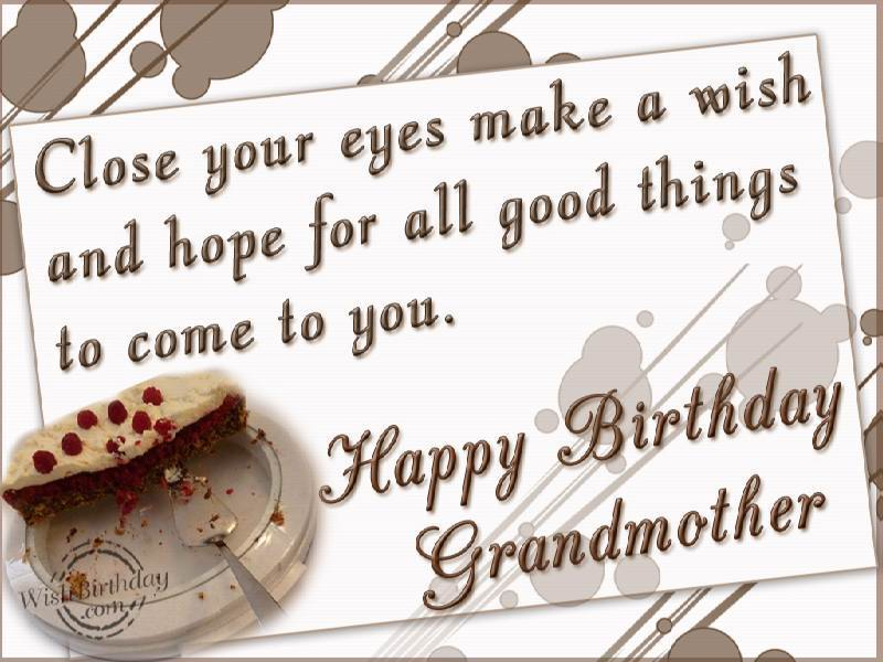 Wonderful Quotes For Grandmother Birthday Wishes Image