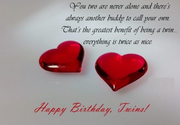 Wonderful Twins Birthday Wishes Image