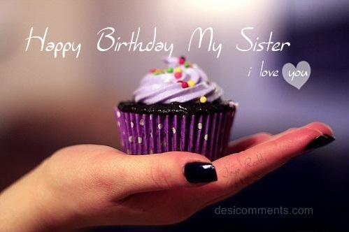 World Best Sister Happy Birthday I Love You Wishes Image