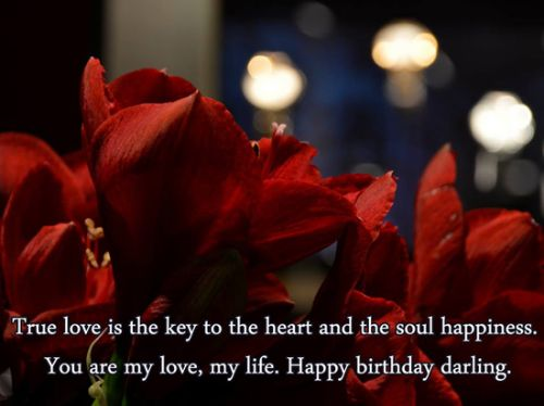 You Are My Love Happy Birthday Darling Wishes Image