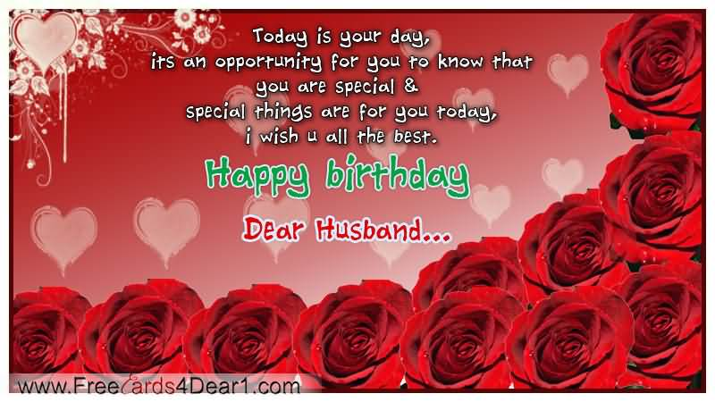 You Are Special Happy Birthday Dear Husband Wishes Image