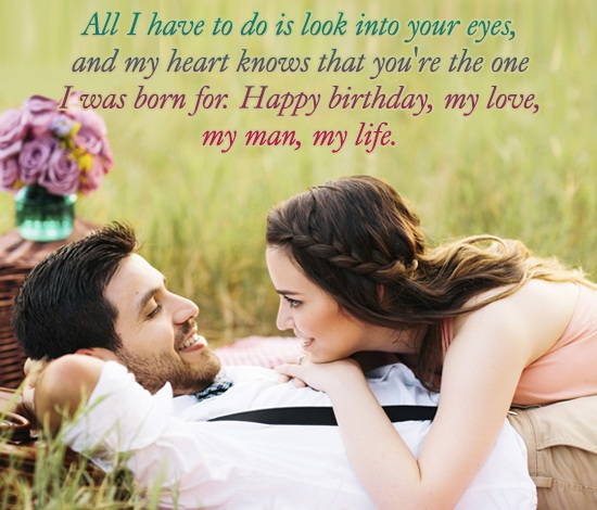 all i have to do is look into your eyes, and my heart knows that you're the one was born for. happy birthday, my love, my man, my life.