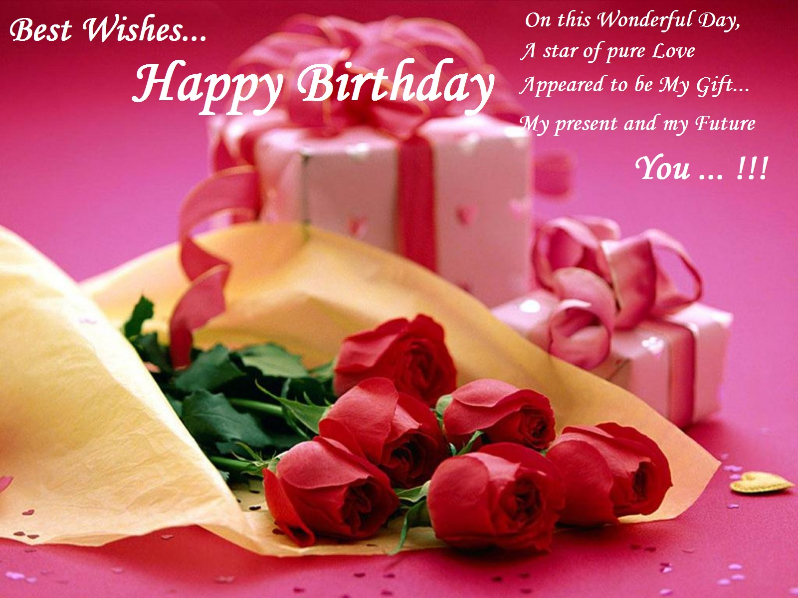 Best Wishes Happy Birthday On This Wonderful Day A Star Of Pure Happy Birthday Wishes For Lovely Friend