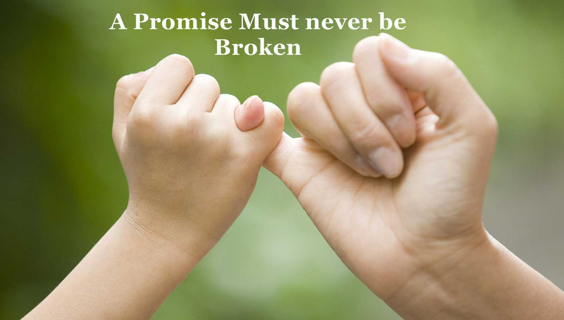 A Promise Must Never Be Broken Happy Promise Day Wallpaper
