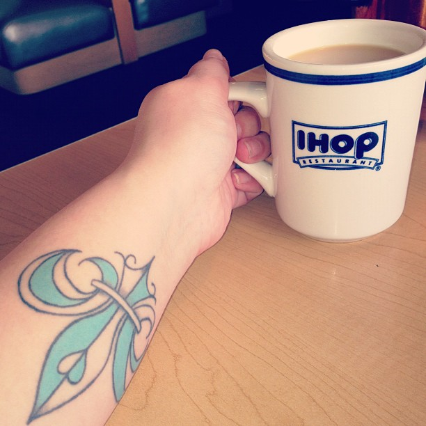 Amazing Fleur De Lis Tattoo On Forearm For Girls