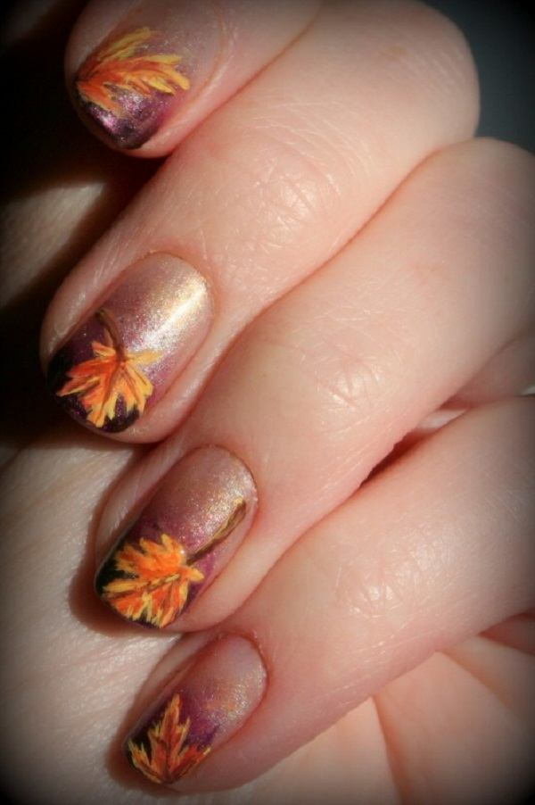 57 Fabulous Autumn Nail Art For Girls And Woman   Picsmine