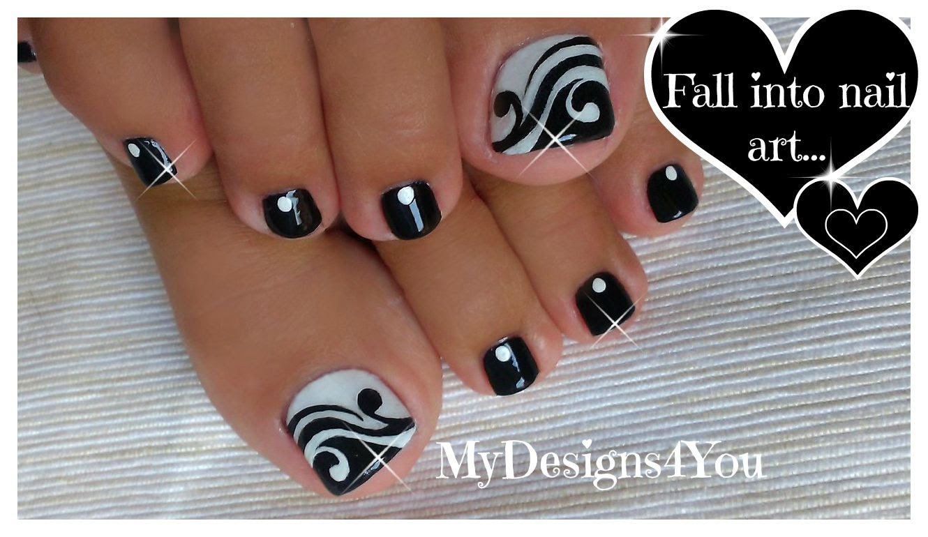 61 Beautiful White And Black Nails Designs For Toe Nails | Picsmine