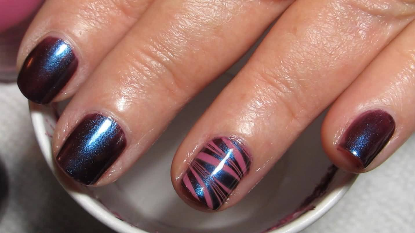 Amazing Zebra Print Nail Design Accent Nail Art