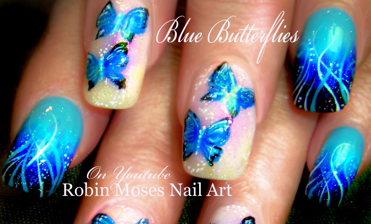 Awesome Butterfly Nail With Butterfly Design