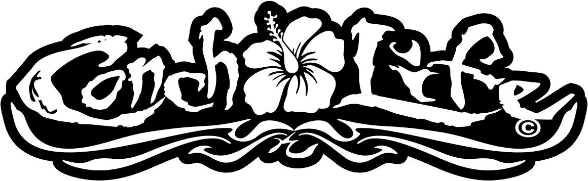 Awesome Conch Life Hibiscus Tattoo Design For Boys