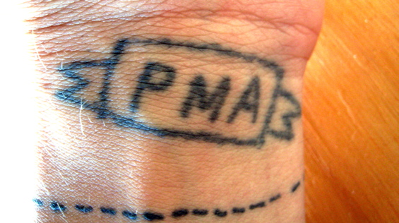 Awesome Homemade Writing Tattoo On Wrist For Girls