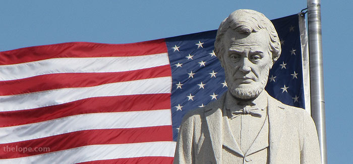 Best Abraham Lincoln With Flag Birthday Image