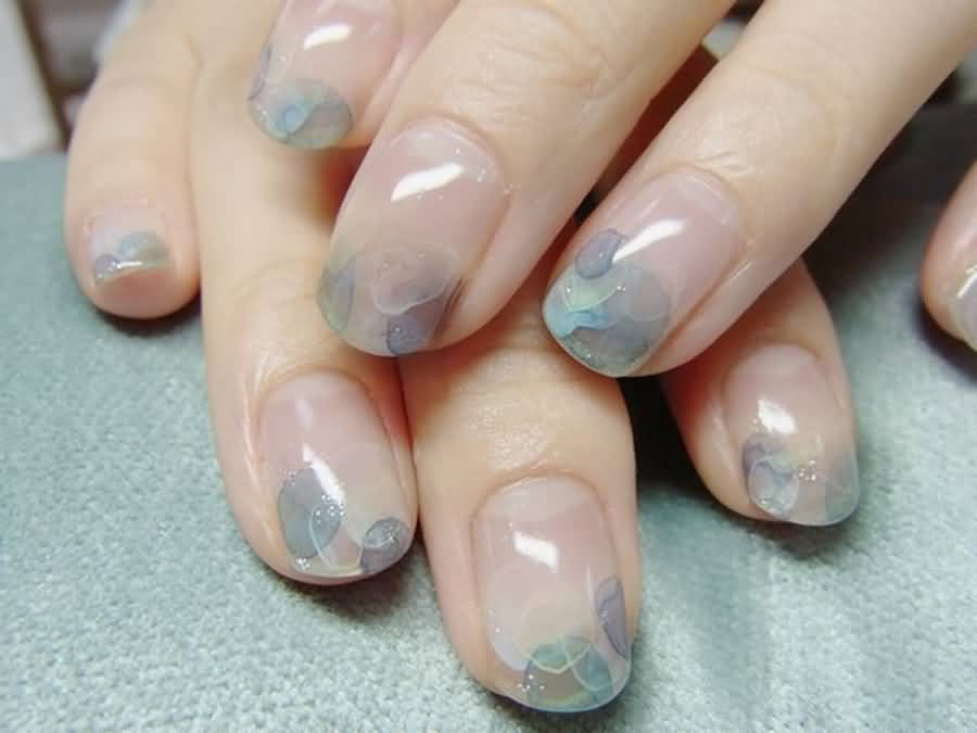 Best Ever Design In Acrylic Short Nail Design