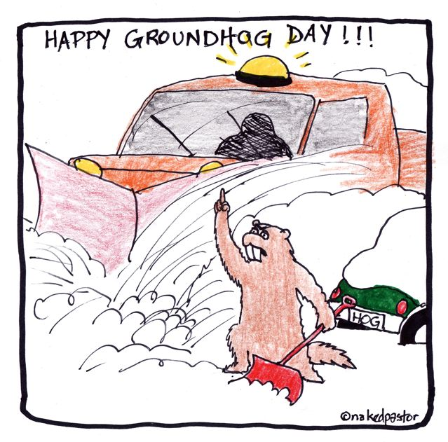 Best Funny Happy Groundhog Day Greetings Card Image