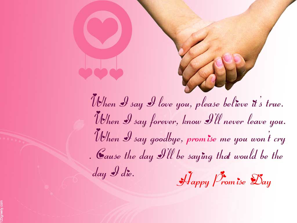 Best Happy Promise Day Message For Friend Image