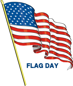 Best Wishes Happy Flag Day Greetings Card Image