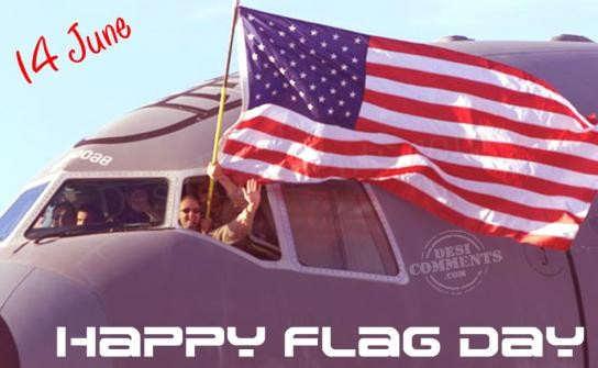 Celebrating Flag Day Wishes Image