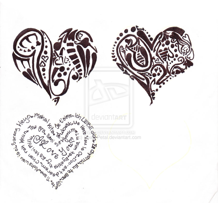 Charming Three Heart Tattoo Designs For Boys