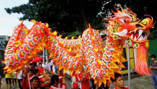 Chinese Happy New Year Dragon Parade Image
