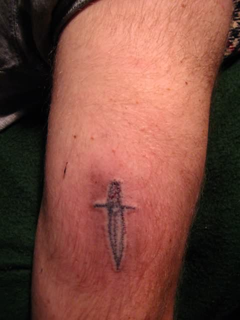 Coolest Homemade Tattoo On Elbow For Boys