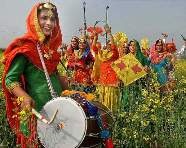 Cultural Dance And Celebration On Bansant Panchami Image