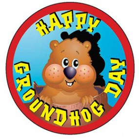 Cute Happy Groundhog Day Wishes Image