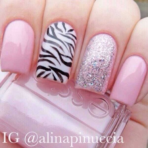 Cutest Pink Color Nail pain Accent Nail Art