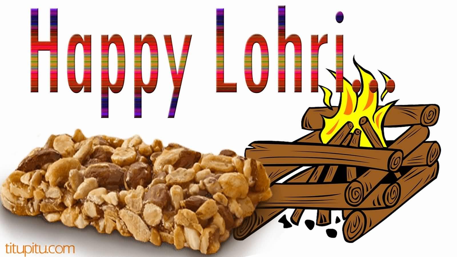 Delicious Happy Lohri Greetings Image