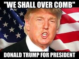 Donald Trump Funny Memes We Shall Over Comb Donald Trump For President