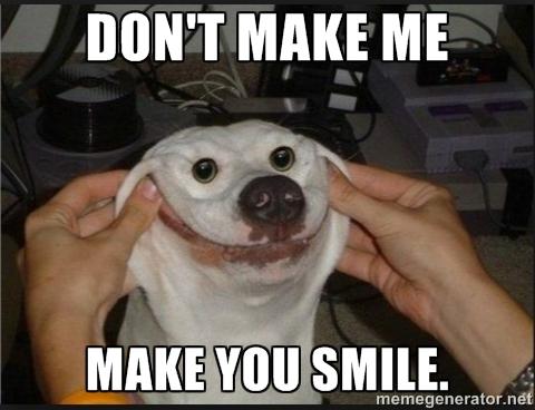 Don't Make Me Make You Smile